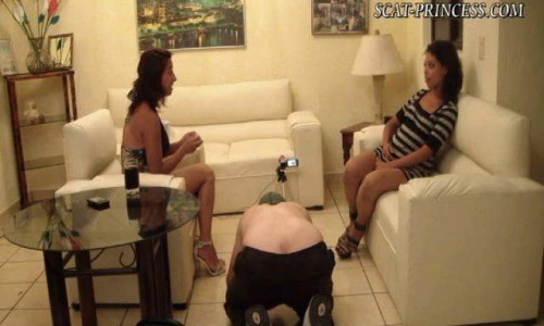 Dom-princess - Scat-princess - Footfeeding The Toiletslave Dom-princess